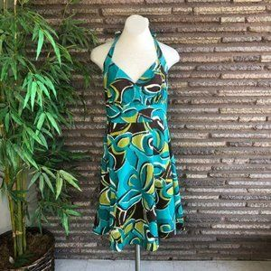 R & K Originals Hawaiian Floral Halter Dress